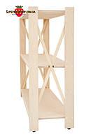 Стеллаж деревянный Прованс на 3 полки