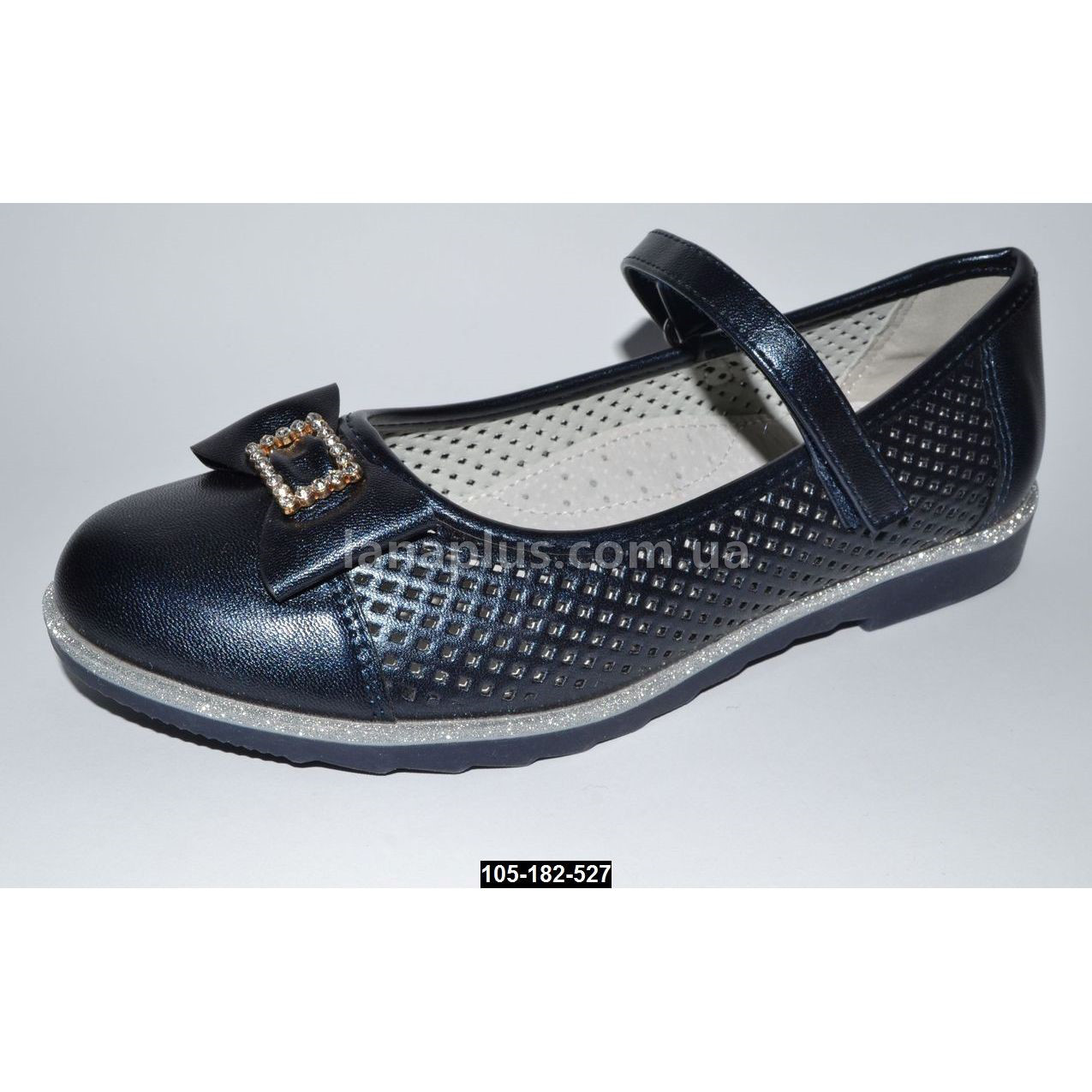 Нарядные облегченные туфли для девочки, 34-35 размер, кожаная стелька, супинатор