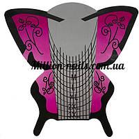 Форма для наращивания ногтей широкая (розовая бабочка) 3 XL