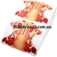 Форма для наращивания ногтей овальная(цветок)500 штук в рулоне, фото 1
