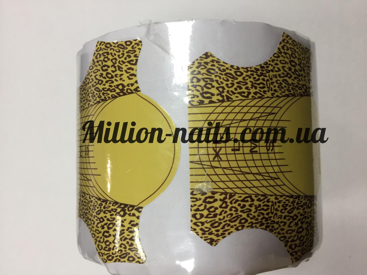 Форма для нарощування нігтів золота( леопард)