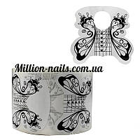 Форма для наращивания ногтей широкая(черная)бабочка
