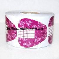 Форма для наращивания ногтей широкая, розовая 500 штук
