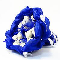 Букет из игрушек Мишки 11 Синий, фото 1