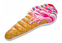 Матрас надувной Intex рожок Мороженое (Ice Cream). Для отдыха на море, в бассейне. арт.58766 Интекс
