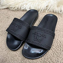 Шлепанцы модные Versace Slide Sandal Medusa Black