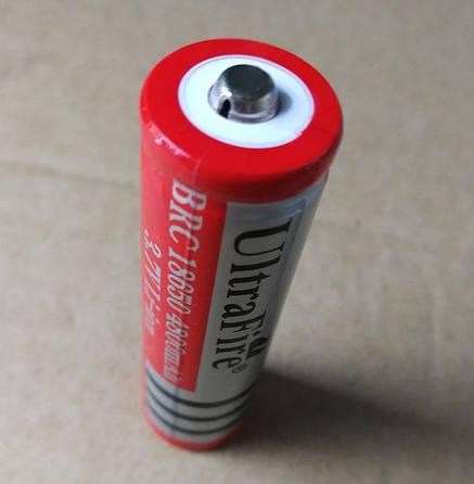 Аккумулятор Battery 18650 Cigarette light Red 4800, фото 2