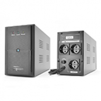 ИБП Ritar E-RTM1500 (900W) ELF-L, LED, AVR, 3st, 3xSCHUKO socket, 2x12V9Ah, metal Case