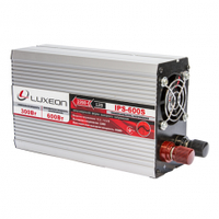 Инвертор напряжения Luxeon IPS-600S, 300Вт, 12/220 с правильной синусоидой, 1 евророзетка, клемы + провода
