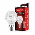 Светодиодная лампа LED Maxus G45 4W теплый свет E14 1-LED-431, фото 2