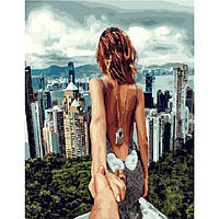 """Картина для рисования """"Следуй за мной Сингапур"""" 40 х 50 см, Без Коробки"""
