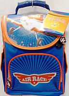 Рюкзак ортопедичний Smile Air Race синій ранець каркасний портфель, фото 1