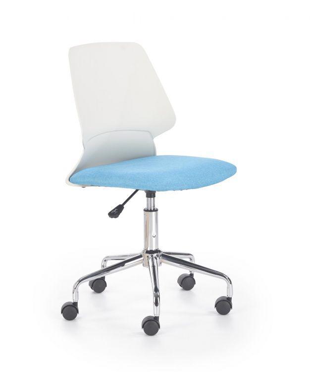 Компьютерное кресло SKATE белый/голубой Halmar