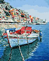 """Картина для рисования """"Лазурные воды Греции"""" 40 х 50 см, Без Коробки"""