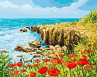 """Картина для рисования """"Скалистый берег"""" 40 х 50 см, Без Коробки"""