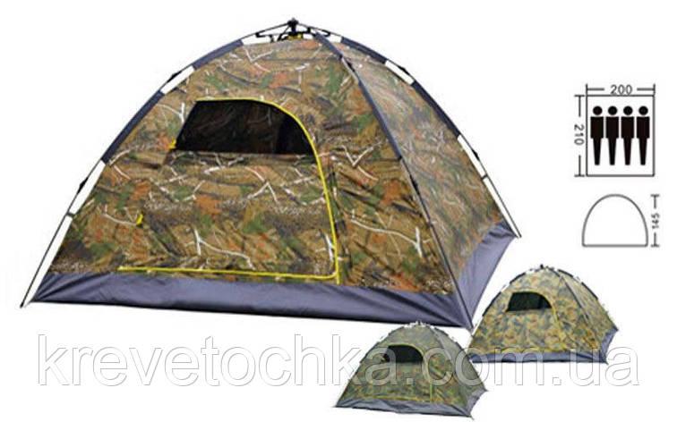 Палатка-автомат с автоматическим каркасом 4-х местная (PL, камуфляж), фото 2