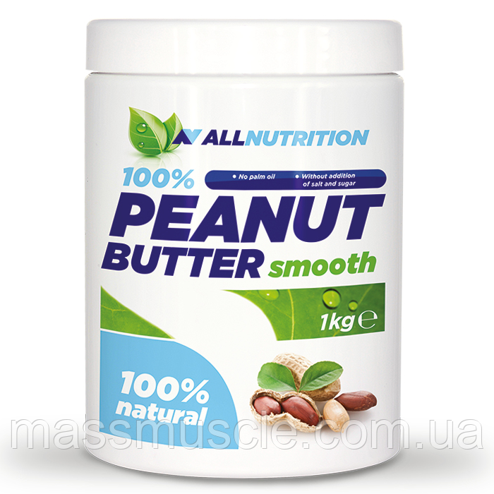 Заменитель питания AllNutrition 100% Peanut Butter Smooth 1000 g