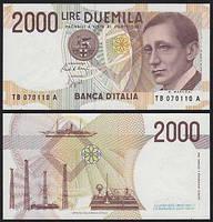 Италия / Italy 2000 Lire 1990 Pick 115 UNC