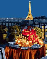 """Картина для рисования """"Ужин в Париже"""" 40 х 50 см, Без Коробки"""