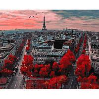 """Картина для рисования """"Алые краски Парижа"""" 40 х 50 см, Без Коробки"""