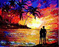 """Картина для рисования """"Влюблённые на закате"""" 40 х 50 см, Без Коробки"""