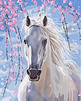 "Картина для рисования ""Лошадь в цветах сакуры"" 40 х 50 см, Без Коробки"