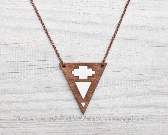 Кулон ручной работы Племенной треугольник