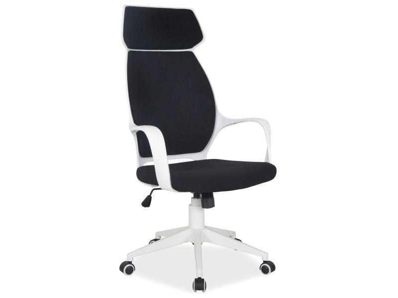 Компьютерное кресло Q-188 Signal черный/белый