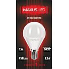 Лампа LED MAXUS  5W теплый свет G45 Е14 220V 1-LED MAXUS -367 3000K, фото 2