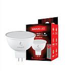 Лампа LED MAXUS  5W теплый свет MR16 GU5.3 220V 1-LED MAXUS -401 3000K, фото 2