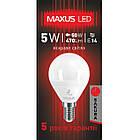 Лампа LED MAXUS  5W яркий свет G45 Е14 220V 1-LED MAXUS -438 4100K, фото 3