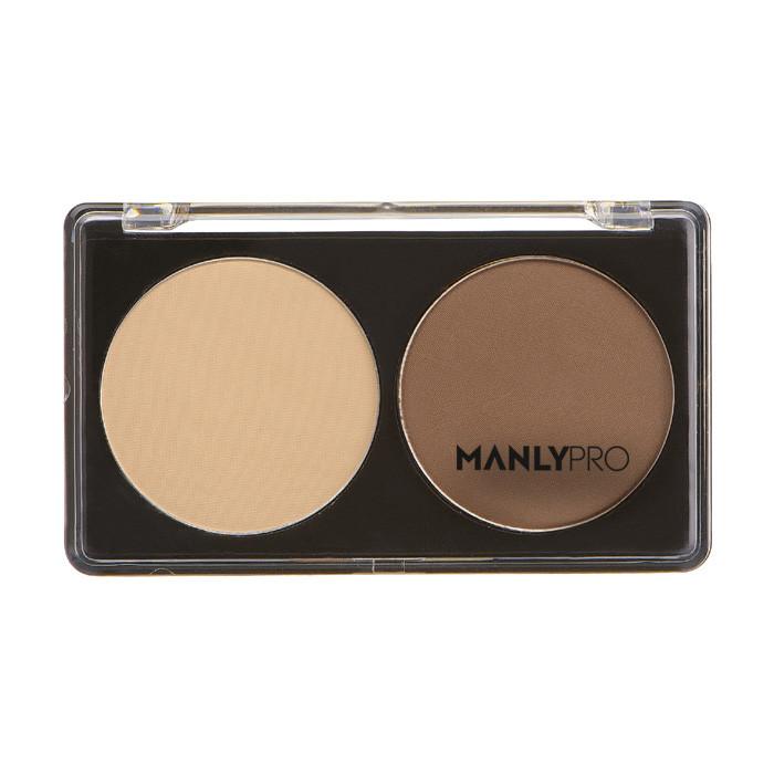 Manly Pro Палитра сухих корректоров 2 цвета (ванильный + холодно-коричневый) П07