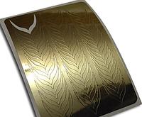 Слайдер дизайн для ногтей ZX6 золото