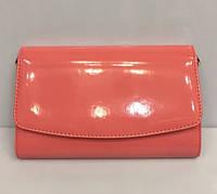 Женская маленькая сумка клатч лаковый с ремешком через плечо Bars 1475