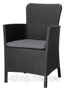 Кресло пластиковое Miami DC, темно-серое