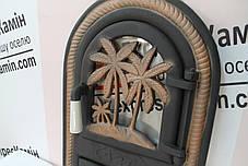 """Дверцы печные со стеклом """"Пальма"""" Чугунная дверка для печи барбекю, фото 3"""