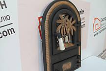 """Дверцы печные со стеклом """"Пальма"""" Чугунная дверка для печи барбекю, фото 2"""