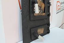 """Дверцы печные со стеклом """"Олень"""" Чугунная дверка для печи барбекю, фото 3"""