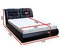 Ліжко з підйомним механізмом з м'якою спинкою в спальню Фараон(160х200) Віка, фото 4