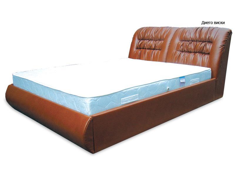 Ліжко з підйомним механізмом з м'якою спинкою в спальню Фараон(160х200) Віка