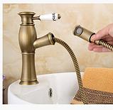 Смеситель для умывальника в ванную выдвижной 3-029, фото 2