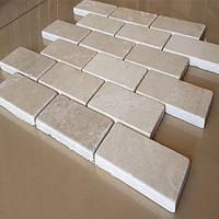 Декоративная бежевая мозаика Карфаген из натурального мрамора 30,5х30,5х1 см