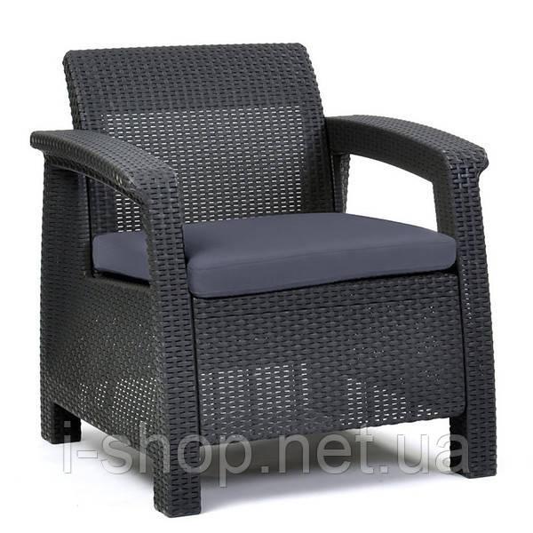 Кресло пластиковое Corfu, серое