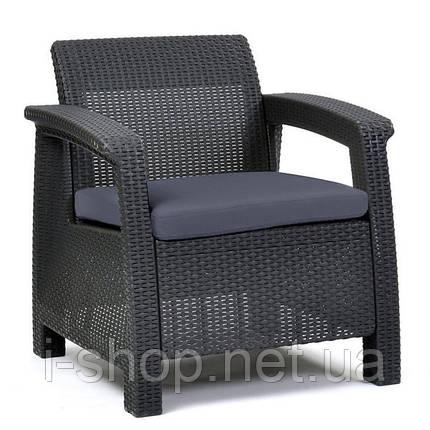 Кресло пластиковое Corfu, серое, фото 2