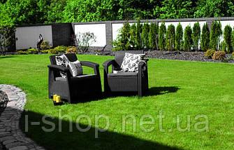 Кресло пластиковое Corfu, серое, фото 3