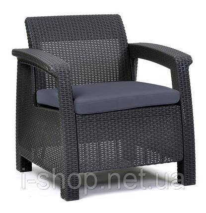 Комплект крісел пластикових Corfu Duo, сірий, фото 2