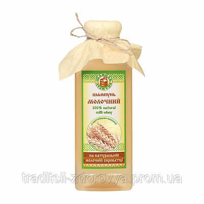 Шампунь «Молочный» с протеинами пшеницы для поврежденных волос (380г)