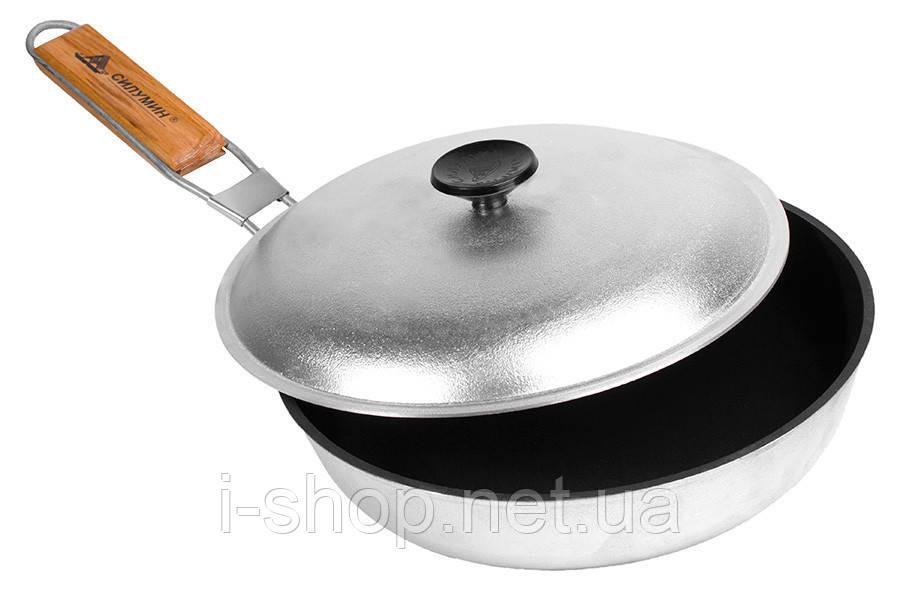 Сковорода похідна з ручкою, 24 см, з антипригарним покриттям, БЛС24