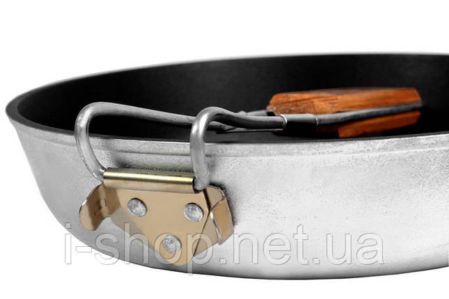 Сковорода похідна з ручкою, 24 см, з антипригарним покриттям, БЛС24, фото 2