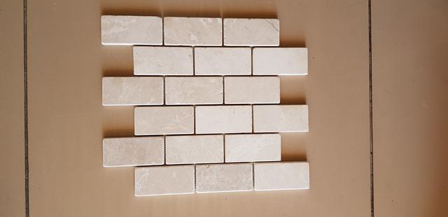 Мозаика Карфаген из мрамора Боттичино 30.5х30.5 см толщина 1 см
